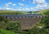 Craig Goch reservoir dam Elan Valley Wales UK.