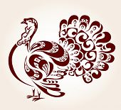 stock photo of give thanks  - Decorative turkey - JPG