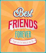 stock photo of  friends forever  - Best friends forever typographic design - JPG