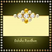 stock photo of rakshabandhan  - beautiful golden rakhi for hindu rakshabandhan festival - JPG
