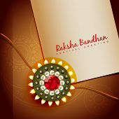 image of rakhi  - beautiful rakhi for hindu rakshabandhan festival - JPG