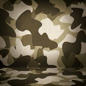 Camouflage Military Interior Background