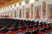 INNSBRUCK, AUSTRIA - AUGUST, 2012 : The Spanish Hall at Ambras Castle on August 13, 2012. This hall