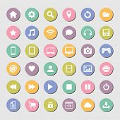 Set of round icons, flat design