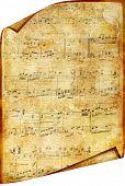 vintage musical scroll