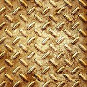 golden diamond plate texture