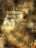 grunge old wall with light spots