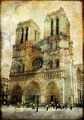 old Paris -vintage series - Notre dame