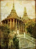 Thailand - king temple - vintage picture