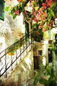 courtyard of old Croatia -artistic picture