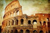 Colosseum - artistic picture in retro style