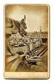 european landmarks vintage cards -Notre dame view poster