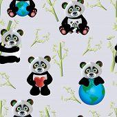 Panda with Earth