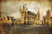 old gothic Gent - vintage card