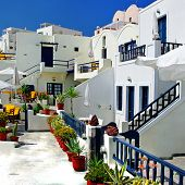 colored Santorini, resorts of Fira