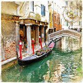 Venice - great italian landmarks vintage series -channels poster