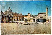 Rome,Vatican - artistic retro styled picture