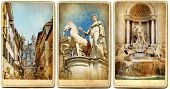 Roman holidays - vintage cards series