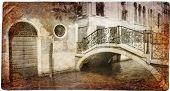 Venetian channels -retro picture