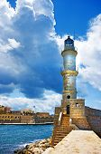 Chania Crete (Greece) - dramatic image of light house