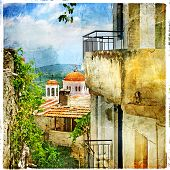 stock photo of hydra  - Greek streets and monasteries - JPG