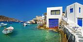 Milos island - Cyclades, traditional fishing village