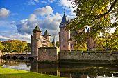 De Haar castle in autumn colors - Holland