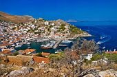 image of hydra  - pictorial view of Hydra island  - JPG