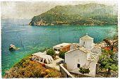 Skopelos island,Greece - retro styled picture