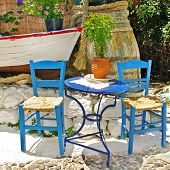 traditional Greece, colored tavernas