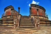 stock photo of polonnaruwa  - ancient  Polonnaruwa temple  - JPG