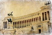 great italian landmarks series - Capitoline, retro styled picture
