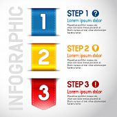 Progress steps for tutorial, product choice or user manual. Vector.