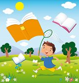 Child On The Hunt For Books