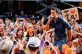 NEW YORK-AUG 16: Singer Luke Bryan performs on NBC's Today Show at Rockefeller Plaza on August 16, 2