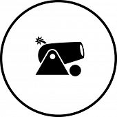 pic of cannon-ball  - cannon symbol - JPG