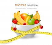stock photo of fruit bowl  - Diet meal - JPG