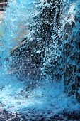 pic of gush  - a scenic Blue Fountain Gushing in the mountain - JPG