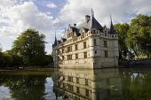 chateau azay-le-rideau in loire valley, france