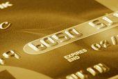 Fragment Of Golden Credit Card