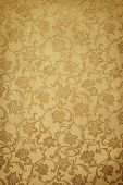 Golden Pattern On Wallpaper. Ideally As Background