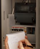 Rewriting of the electrical meter readings