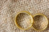 Golden Rings On The Burlap
