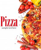 image of take out pizza  - delicious pizza - JPG