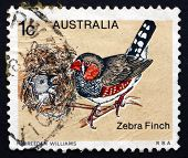 Postage Stamp Australia 1979 Zebra Finch, Bird