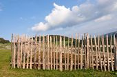 stock photo of stockade  - fence - JPG