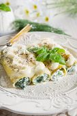 pic of glass noodles  - cannelloni ricotta - JPG