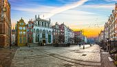 Gdansk City On Sunrise