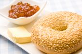 Fresh Bagel With Jam