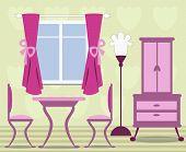 illustration of dinning room